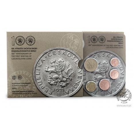Súbor mincí 100.výročie začatia razby československých mincí