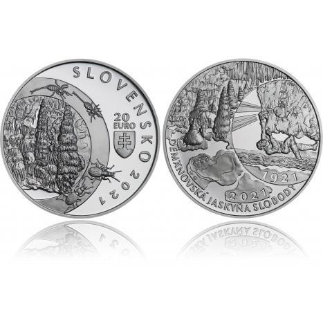 20€ minca Objavenie Demanovskej jaskyne slobody averz reverz spolu