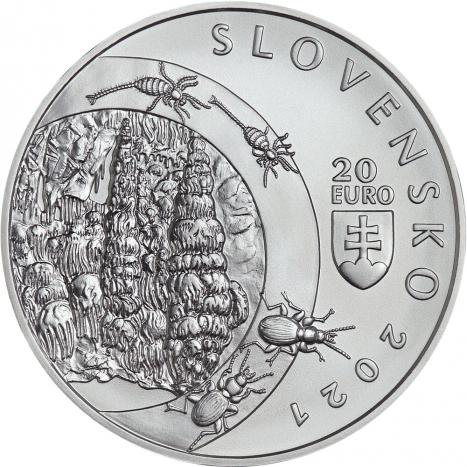 20€ minca Objavenie Demanovskej jaskyne slobody averz kvaple zivocichy