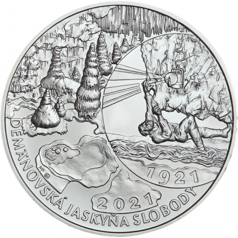 20€ minca Objavenie Demanovskej jaskyne slobody reverz kvaple jaskyniar