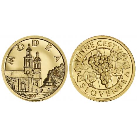 Zlatá medaila Malokarpatská vínna cesta Modra kostol strapec hrozna