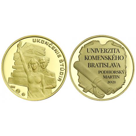 zlatá medaila s personalizáciou - Uzavretie manželstva